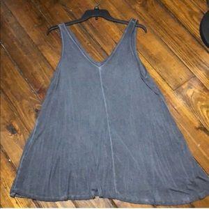 Gray trapeze dress/swim suit cover up